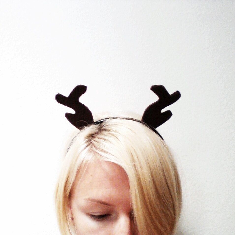 custom made brown antler headband halloween costume or dress up brown reindeer antlers for all