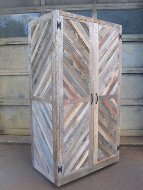 Custom Made Reclaimed Merry-Maker Wine Fridge Cabinet