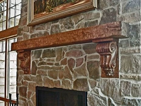 Custom Made Rustic Fireplace Mantle
