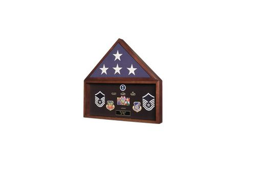 Custom Made Flag And Document Display Case