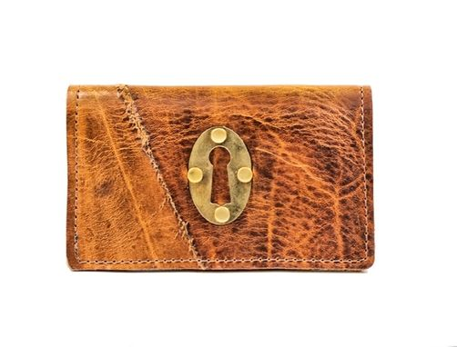 Custom Made Keyhole Leather Phone Case And Wallet