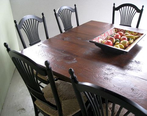 Custom Made Square Wood Dining Table