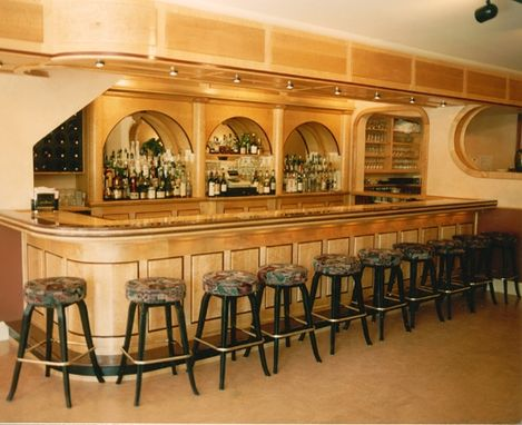 Custom Made Curly & Tigar Maple Bar For  Restauant In Saratoga Springs Ny