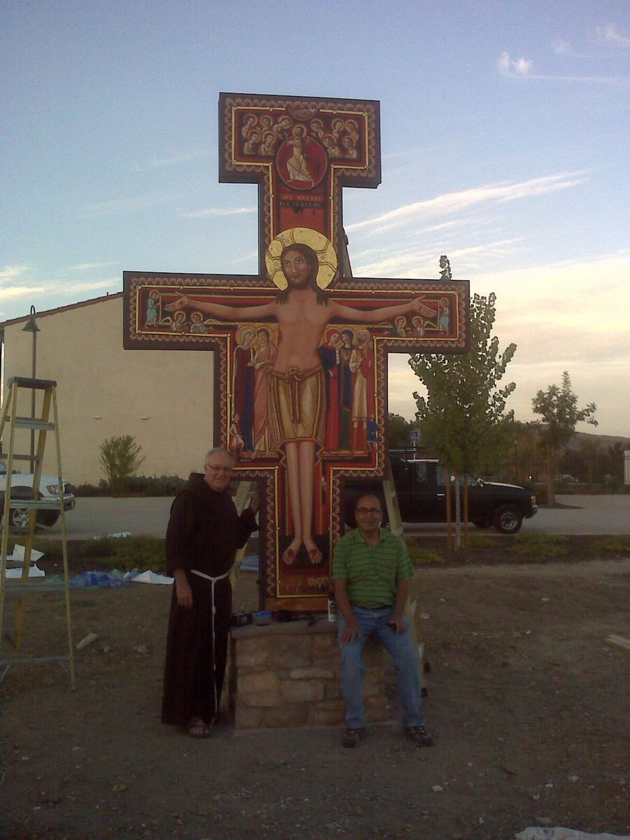 Hand Made San Damiano Cross At San Miguel Mission Ca By