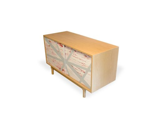 Custom Made Modern Abstract Credenza