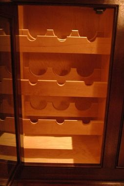 Custom Made Mahogany Wine Cabinet