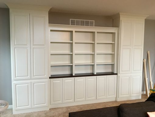 Custom Made Built In Storage And Book Case