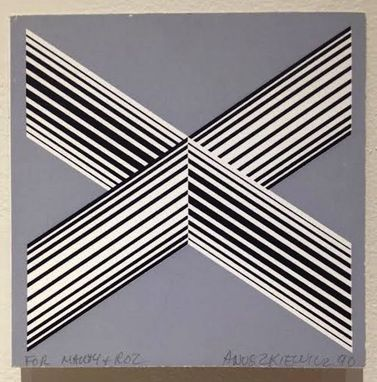 "Custom Made ""X"" Screenprint On Paper, 5.5 X 5.5"