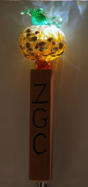 Custom Made Beer Tap Handle, Blown Glass