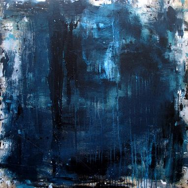 Custom Made Abstract Painting Blue Modern Art By Elston / 50x50