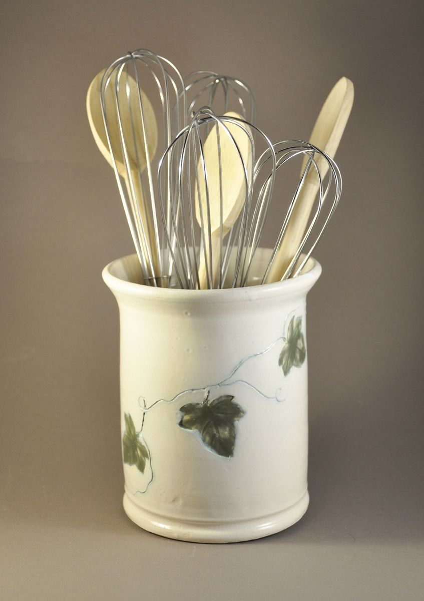 Custom kitchen utensil holder by eden pottery for Kitchen utensil holder