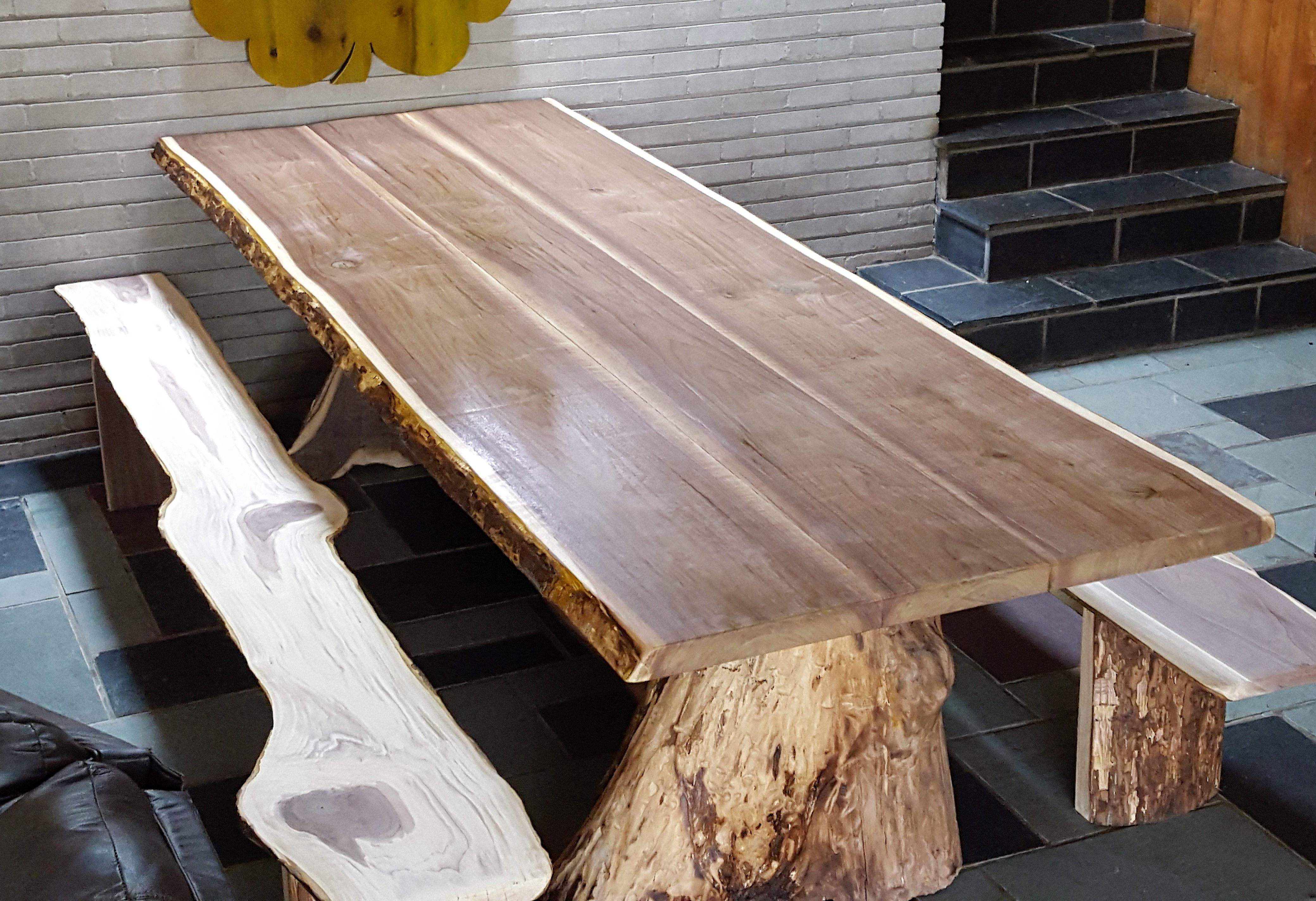 Hand Crafted One Tree Dining Table By Barn Wood Studio
