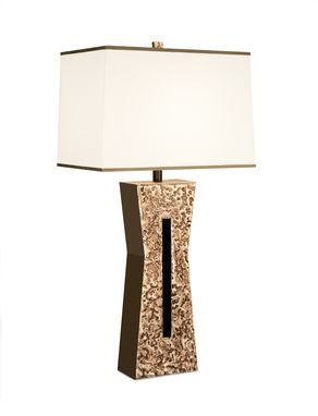 Custom Made Keyhole Bronze And Steel Floor And Table Lamps