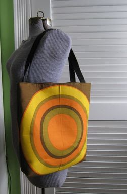 Custom Made Upcycled Tote Bag Made From A Pair Of Vintage Fallani And Cohn Napkins