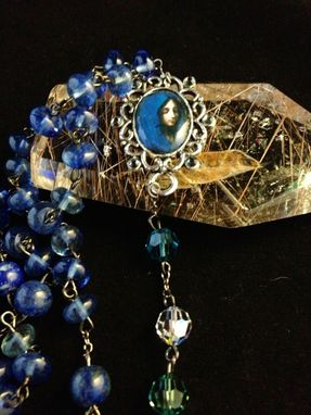 Custom Made The Blue Madonna By Dolci-3d Resin Rosary