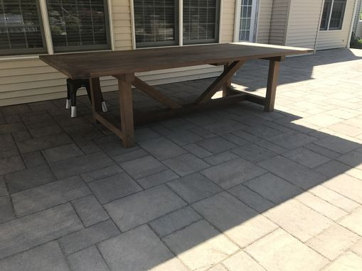 Custom Made Ipe Farmhouse Picnic Table