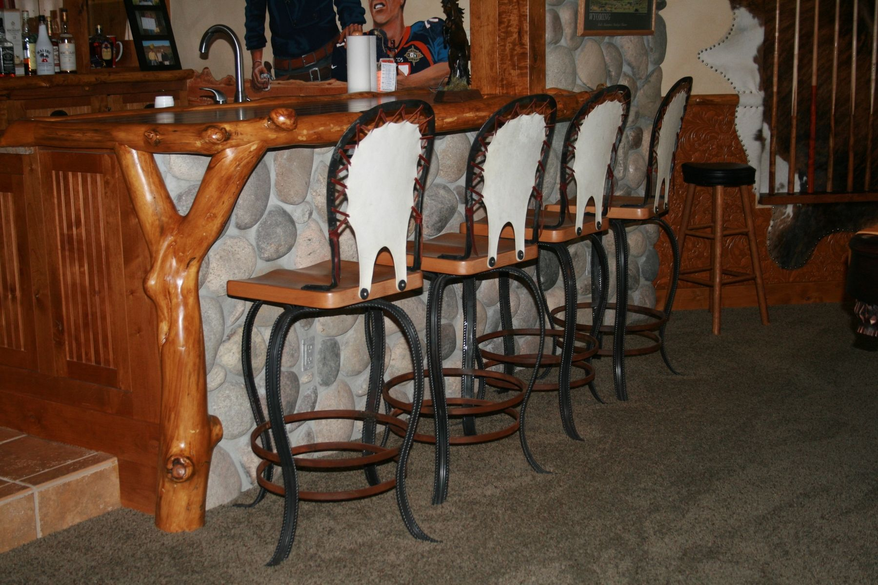 Custom Reata Bar Stools By Iron Mountain Anvil