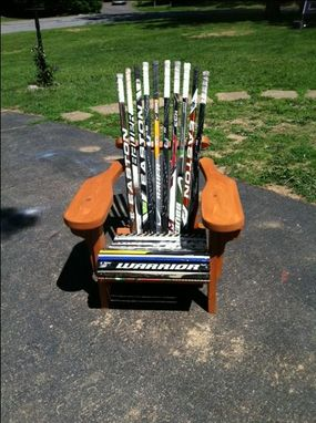 Custom Made Hockey Stick Adirondack Chair