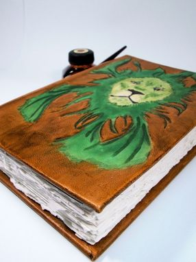 Custom Made Large Custom Leather Hardcover Journal