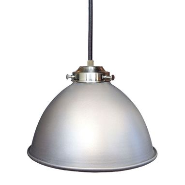 "Custom Made Dome 7"" Metal Shade Pendant Light- Nickel"