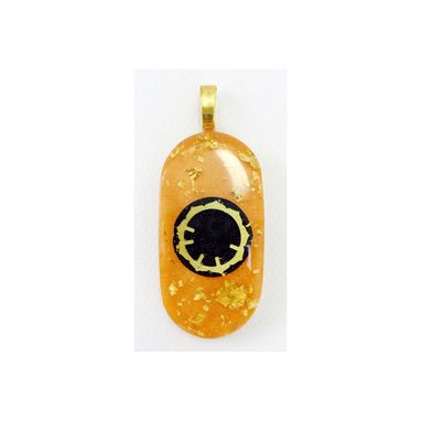 "Custom Made Amber Orange ""Key2forgiveness"" Pendant"