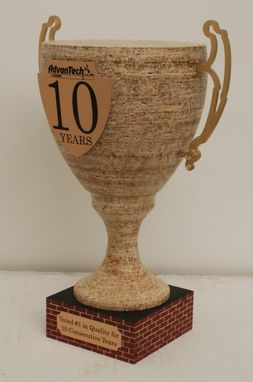Custom Made Custom Wooden Trophy Promotional Pieces
