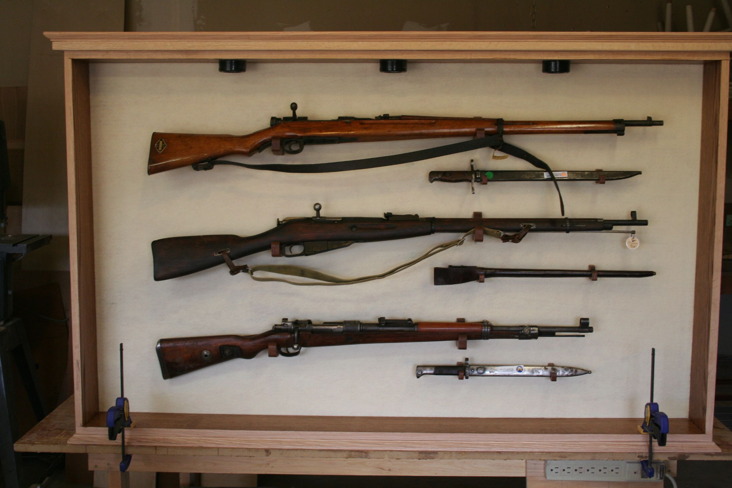 Hand Made Museum World War 2 Rifle Display Cabinet by The Oakman ...