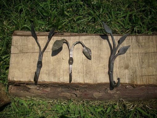 Custom Made Forge Welded Leaf Wall Hooks