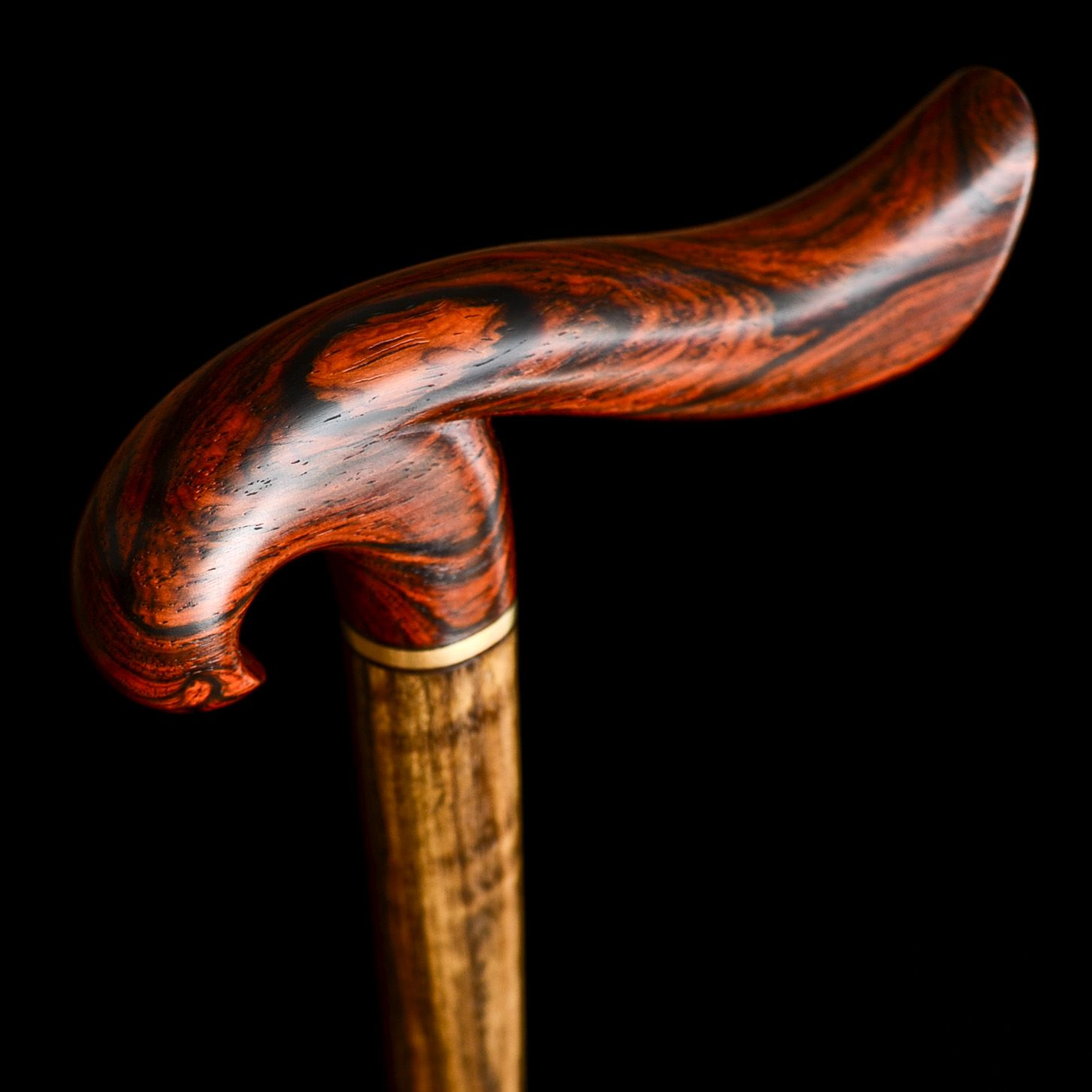 Hand Crafted Handmade Bird Walking Cane In Cocobolo And ...