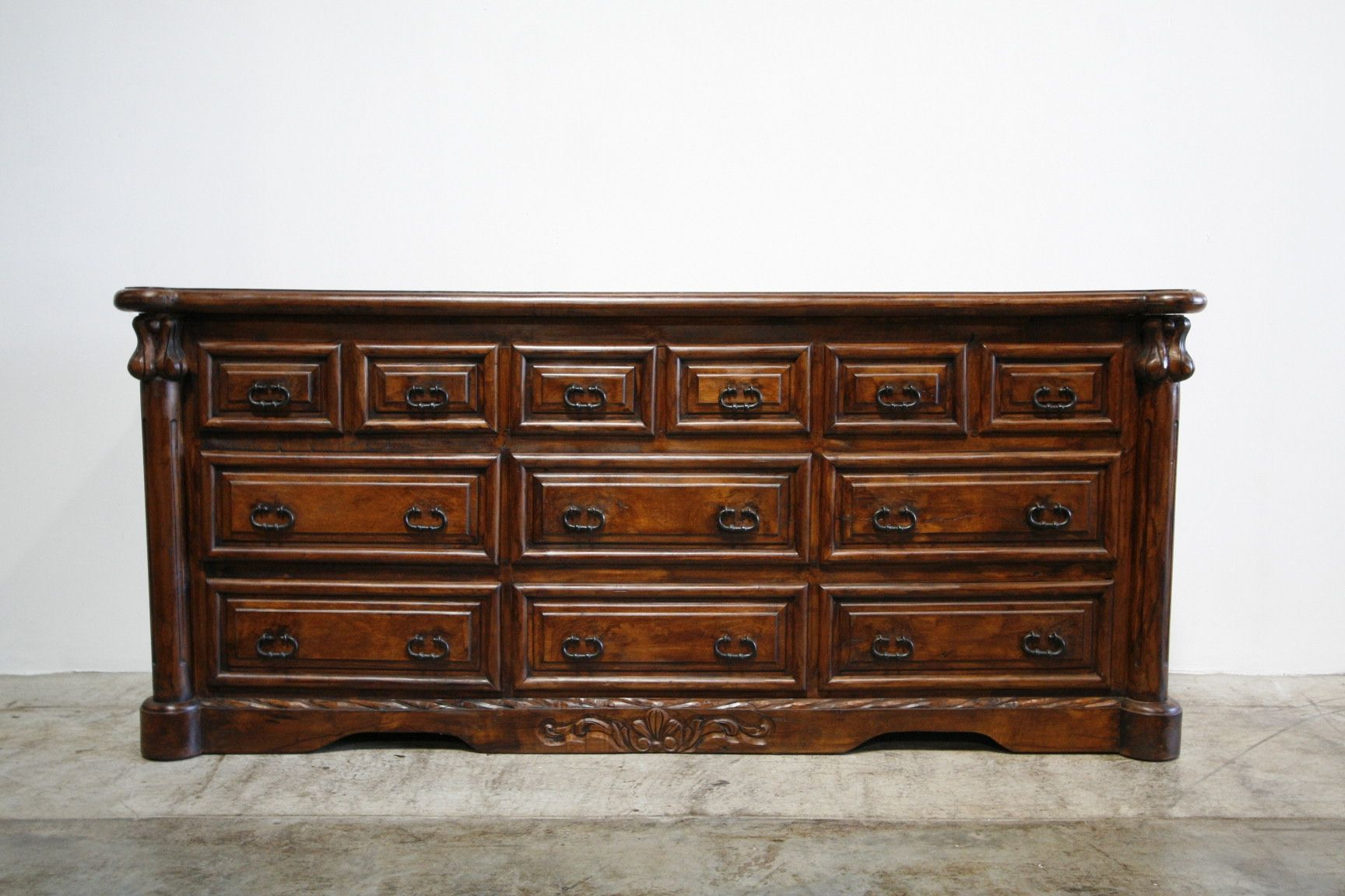custom spanish style furniture. Custom Made Mesquite Concha Dresser Spanish Style Furniture
