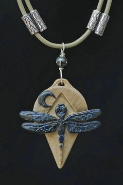 Custom Made Dragonfly Pendant ~ Hand Carved Ancient Mammoth Ivory