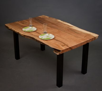 Custom Made Gillespie - Reclaimed Live Edge Maple Dining/Kitchen Table