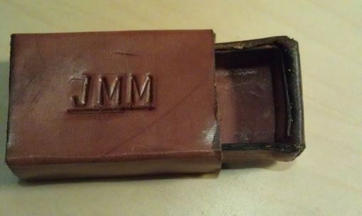 Custom Made No Longer Making This Item Leather Matchbox