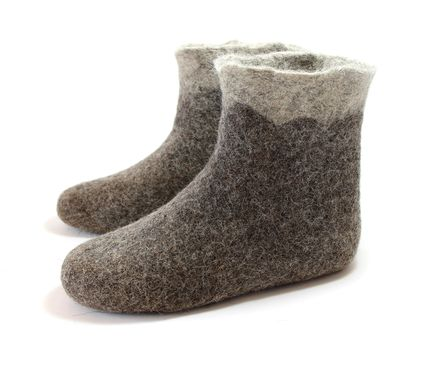 Custom Made Womens Wool Boots Shades Of Grey Curls