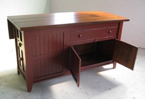 Custom Made Pine Kitchen Island Barn Red