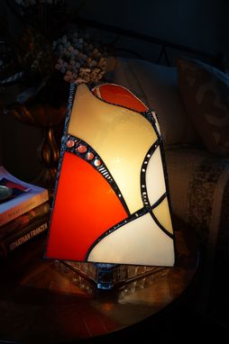 Custom Made Glass Art Lamp #39