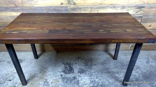 Custom Made Reclaimed Wood Table With Dark Stain