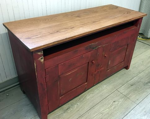 Custom Made Distressed Shaker Style Entertainment Center