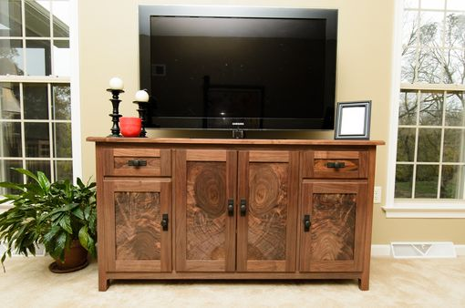 Custom Made Walnut Console Media Cabinet