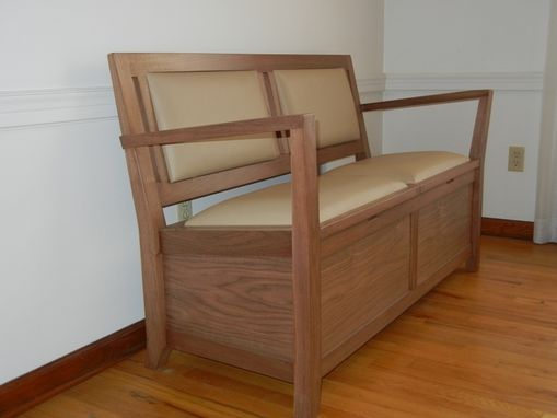Custom Made Two Seat Bench With Storage