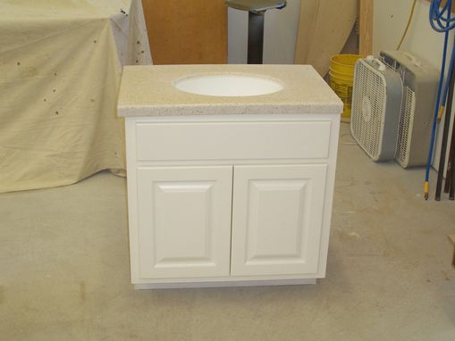 Custom Made Custom Painted Bathroom Vanity And Top