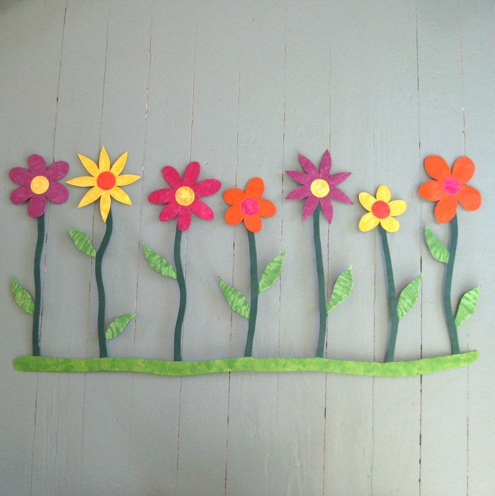Upcycled Wall Art Hand Crafted Handmade Upcycled Metal Flowers Wall Art Sculpture By