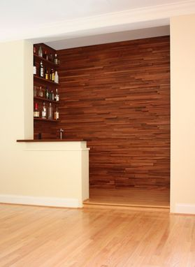 Custom Made Stacked-Wood Wet Bar