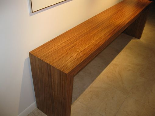 Custom Made Zebrawood Hall Table