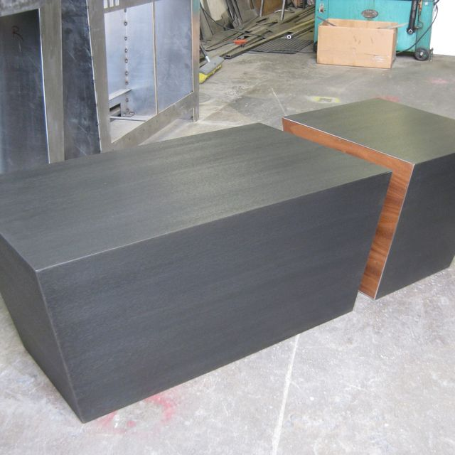 Handmade Steel And Walnut Cube Coffee Table By Bill More Design Custommade