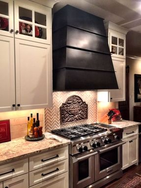 Custom Made The Trueblood Range Hood In Mild Steel With Hand Applied Patina