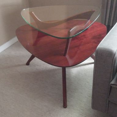 Custom Made Custom Reproduction, Mid-Century Modern End Table