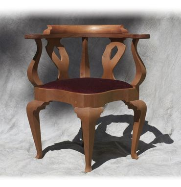 Custom Made Traditional Corner Chair