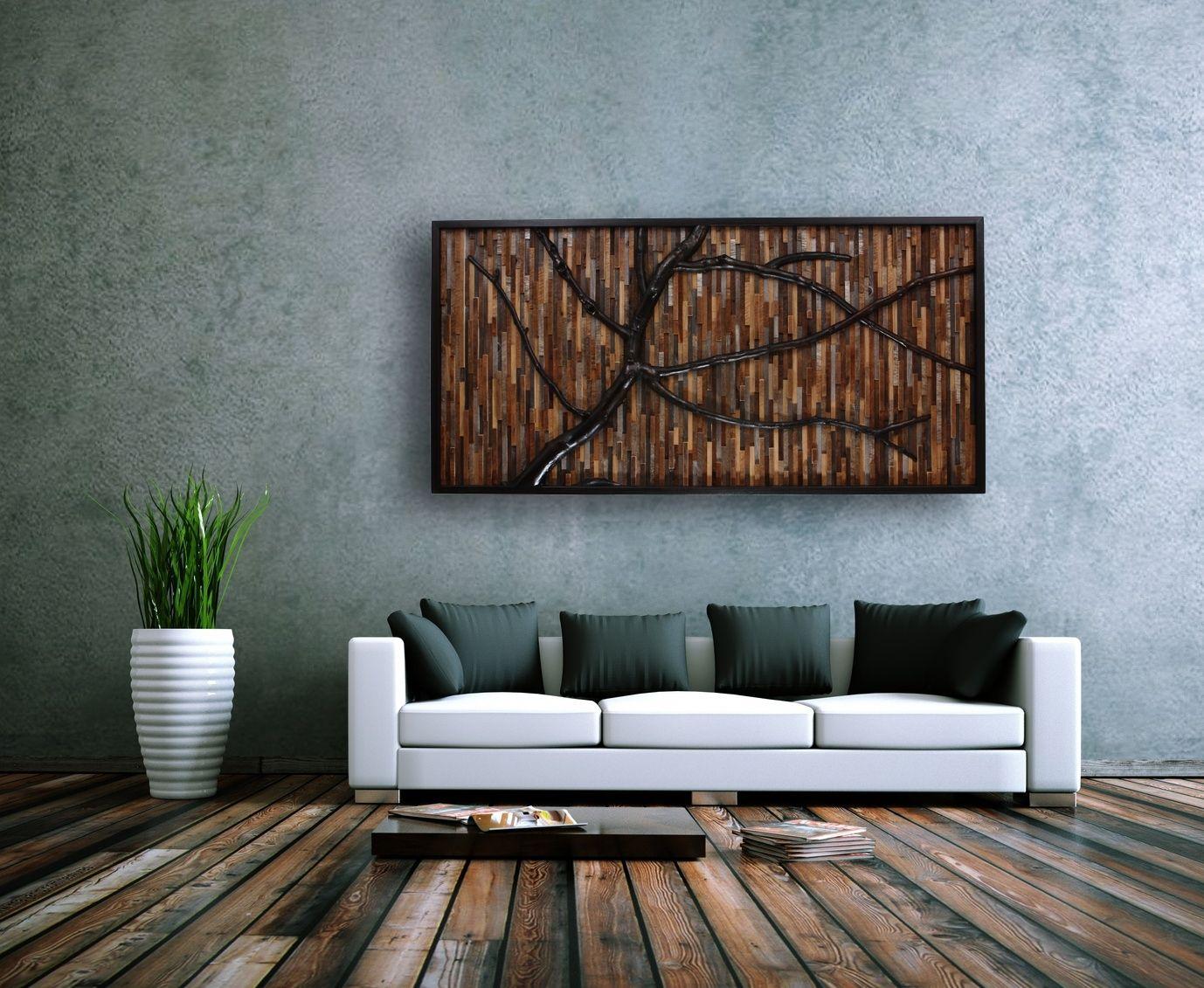 Custom Wood Wall Decor : Hand crafted reclaimed wood wall art that evokes a wind