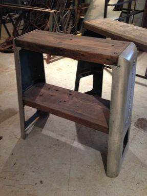 Custom Made Repurposed Industrial Shopmaster Tool Base Sofa Tables